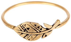 Dogeared DOGEARED 14K GOLD & STEARLING SILVER ETCHED RING
