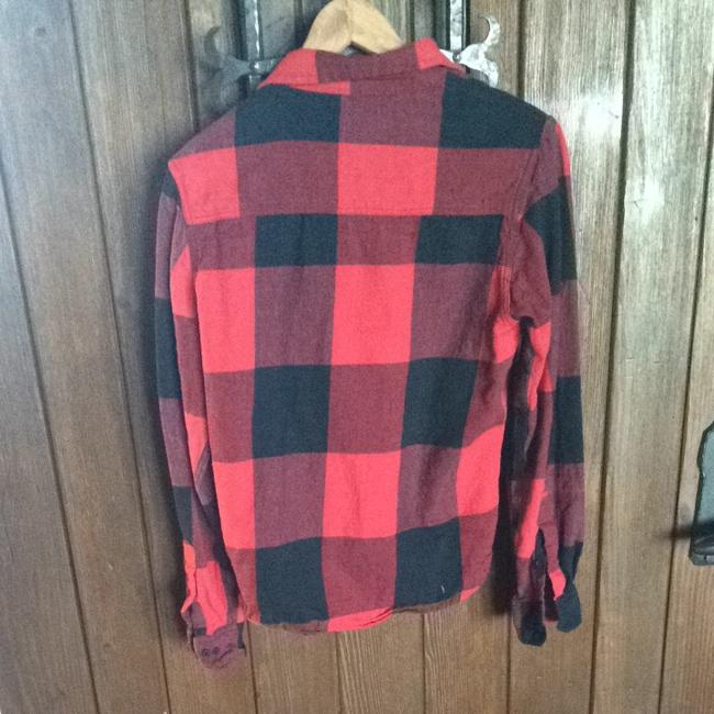 Free Nature Shirt Shirt Button Down Shirt Red Plaid