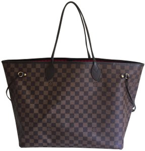 Louis Vuitton Neverfull Gm Tote Damier Ebene Shoulder Bag