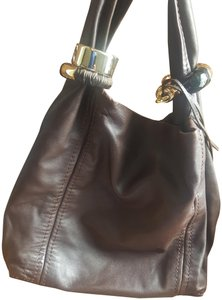 Jimmy Choo Saba Soft Supple Brown Silver Leather Hobo Bag - Tradesy 18d5ce2366