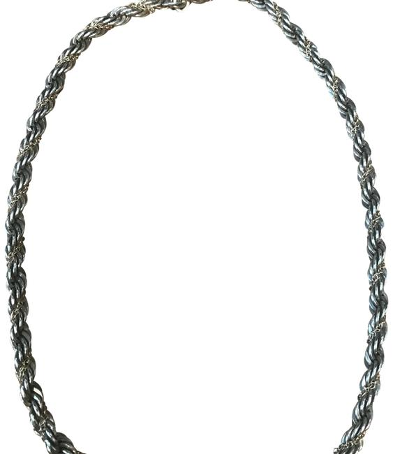 Item - Silver/Gold Rope Chain Necklace