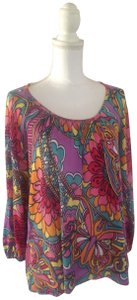 Lilly Pulitzer Cotton Scoop Neck Cotton Knit Very Good Condition Tunic