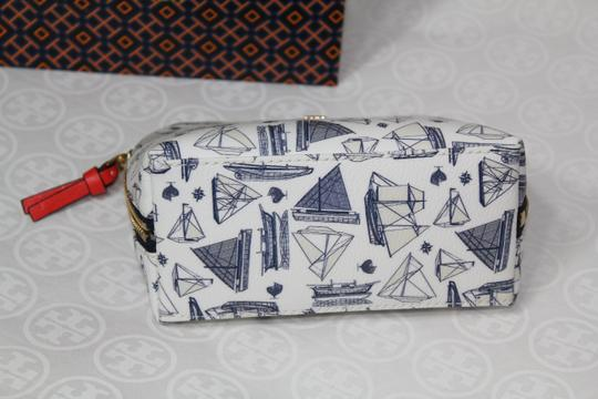 Tory Burch NEW TORY BURCH NAUTICAL SAILBOAT PRINT SUMMER BOAT COSMETIC MAKEUP BAG Image 8