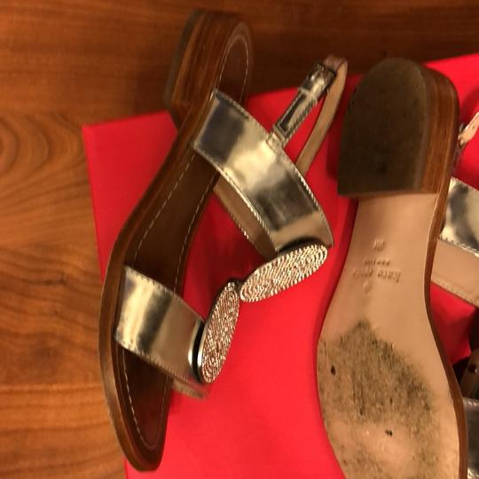 2a89bf01f9b9 Kate Spade Silver Breana Jeweled Sandals Size US 5 Regular (M