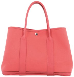 Hermès Gardenparty Leather Tote in Pink