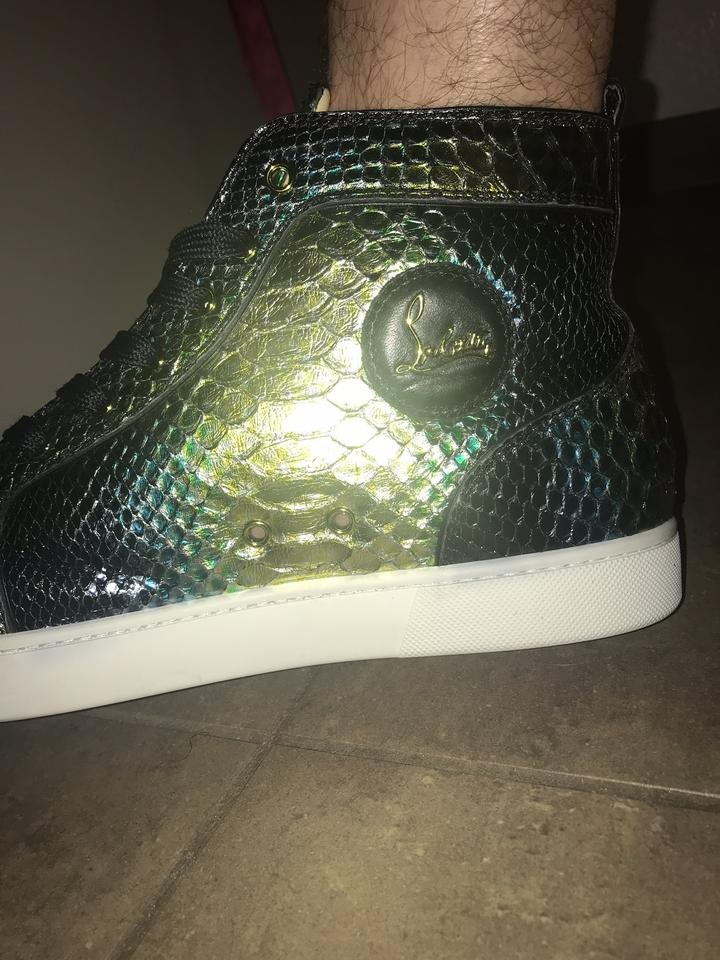 08c9f16a9a6a Christian Louboutin Men Gold Black Green Athletic Image 6. 1234567