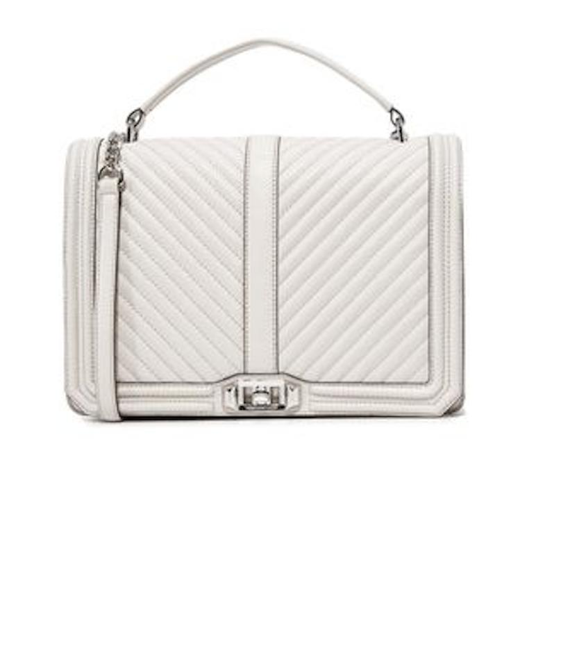 Rebecca Minkoff Chevron Quilted Jumbo Love Putty Leather