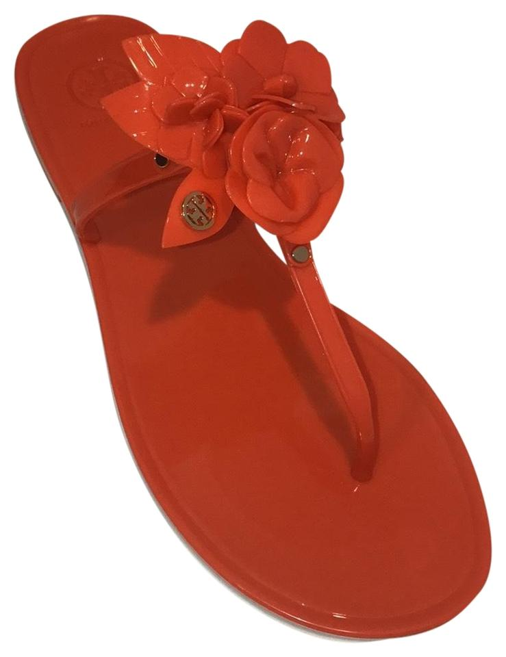 39d7cd0cae2 Tory Burch Samba Blossom Jelly Thong-you Sandals. Size  US 9 Regular ...