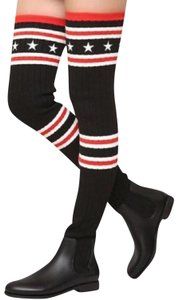 Givenchy Rainboots Trending Fashion Luxury black white red Boots