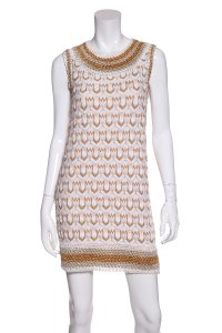 Missoni short dress White & Gold on Tradesy
