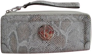 Relic Relic snake skin wristlet /wallet/taupe color
