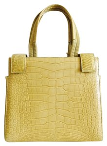 Prada Tote in Mustard Yellow