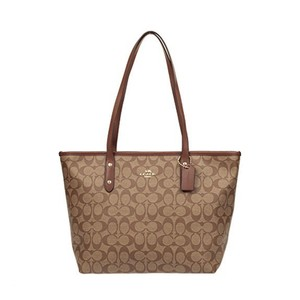 Coach Tote in IM/Khaki/Saddle 2