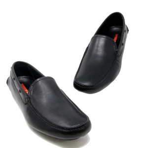 Prada Black Leather Horsebit Driver Men's Moccasins Loafer Dress Shoes