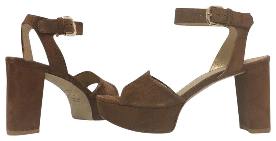 81797a948b96 Stuart Weitzman Brown Suede Realdeal Saddle Women s Platform High Heels  Sandals N Pumps. Size  US ...