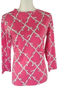 Melly M Resort Wear Bright Pink / White Design Very Good Condition Sweater