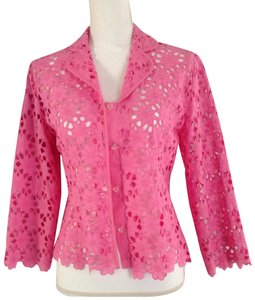 Lilly Pulitzer Scalloped Edges Rose Shaped Button Day To Evening Perfect Over Cami Cardigan