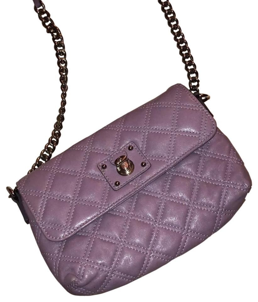 90cb48a70847 Marc Jacobs The Single Quilted Purple Leather Cross Body Bag - Tradesy
