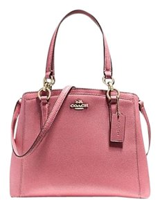 Coach Handbag Leather Satchel in Pink
