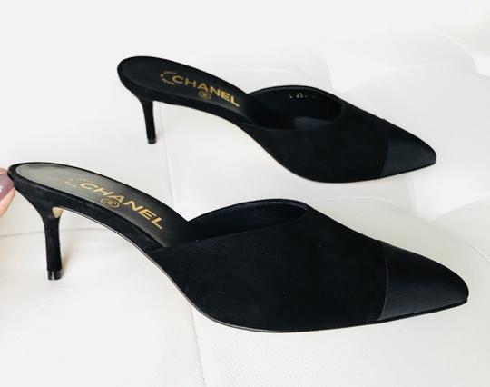 Chanel Black Mules Image 1