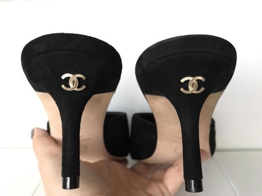 Chanel Black Mules Image 3