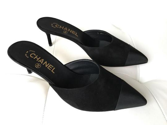 Chanel Black Mules Image 4