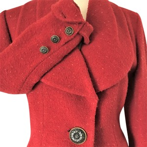 Karl Lagerfeld Couture Nubbywool Cranberry Jacket