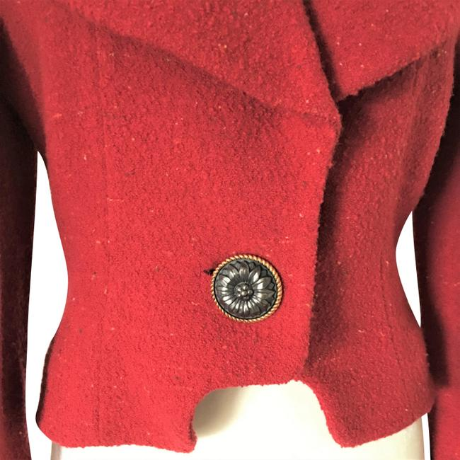 Karl Lagerfeld Couture Nubbywool Cranberry Jacket Image 1