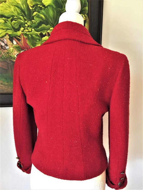 Karl Lagerfeld Couture Nubbywool Cranberry Jacket Image 10