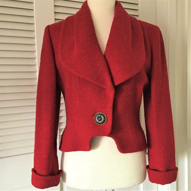 Karl Lagerfeld Couture Nubbywool Cranberry Jacket Image 2