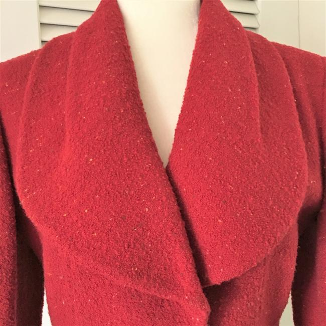 Karl Lagerfeld Couture Nubbywool Cranberry Jacket Image 3