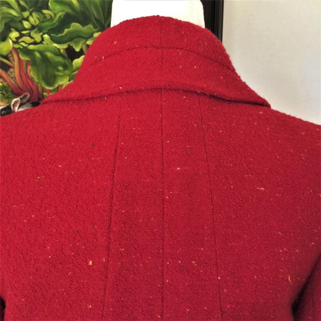 Karl Lagerfeld Couture Nubbywool Cranberry Jacket Image 8