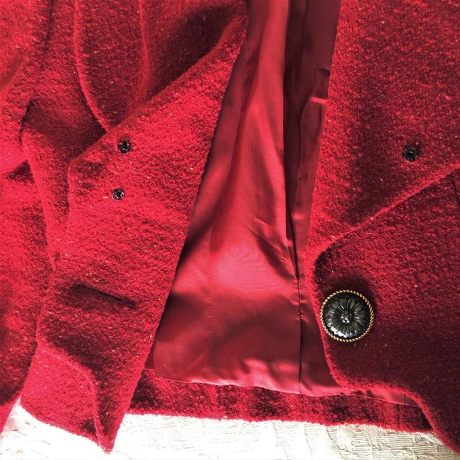 Karl Lagerfeld Couture Nubbywool Cranberry Jacket Image 9