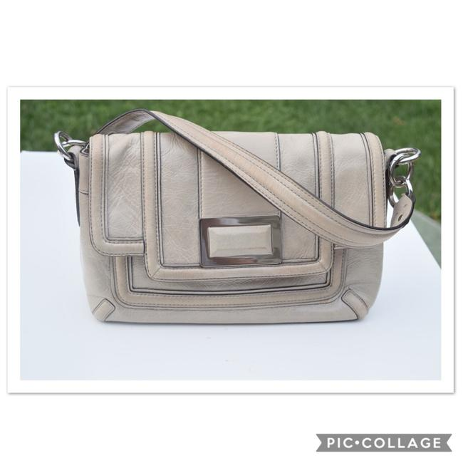 Item - Light Gray Leather Shoulder Bag