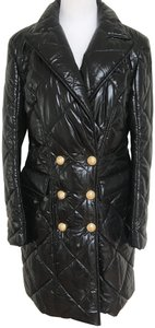 Balmain Nylon Quilted Double Breasted Pea Coat