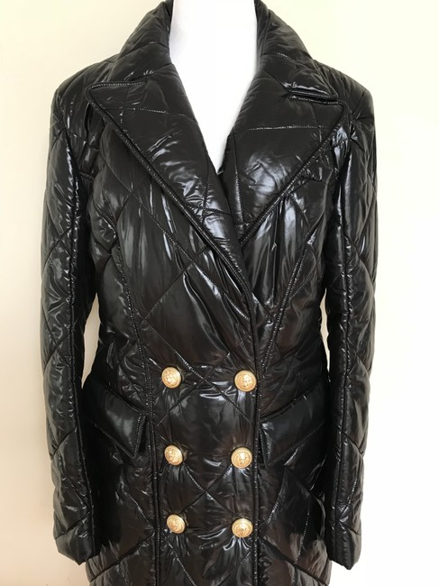 Balmain Nylon Quilted Double Breasted Pea Coat Image 1