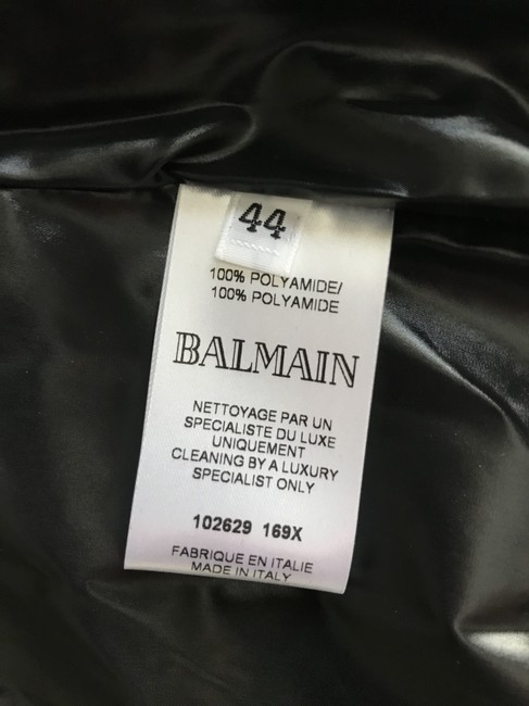 Balmain Nylon Quilted Double Breasted Pea Coat Image 10
