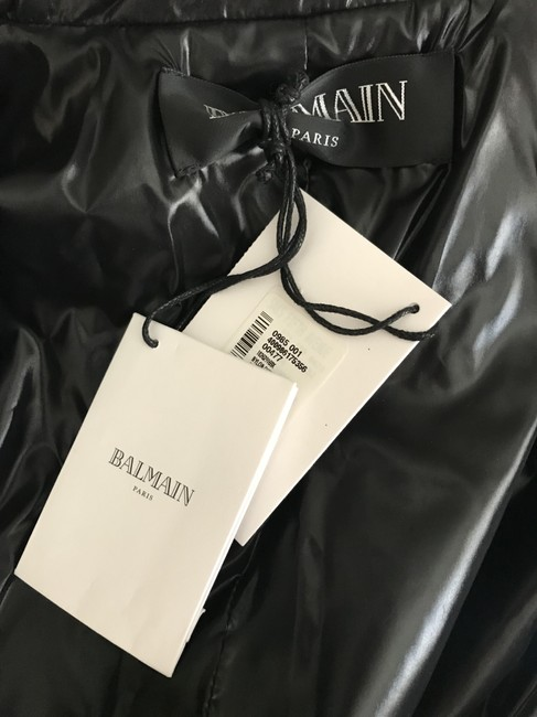 Balmain Nylon Quilted Double Breasted Pea Coat Image 11