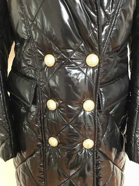 Balmain Nylon Quilted Double Breasted Pea Coat Image 2