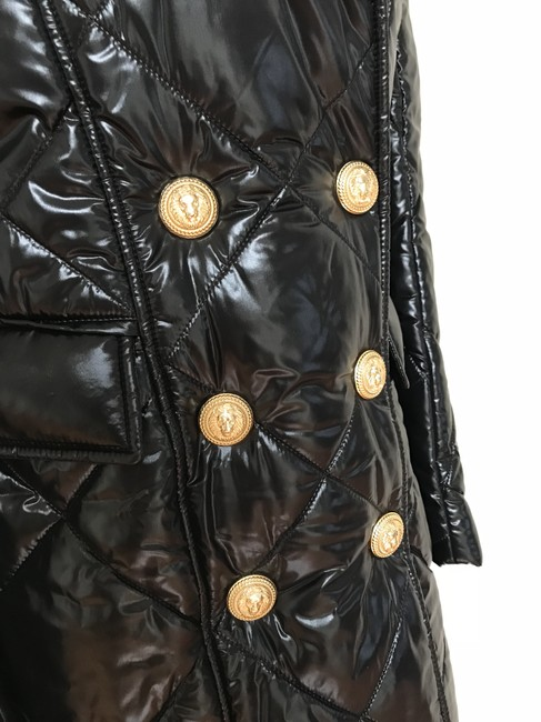 Balmain Nylon Quilted Double Breasted Pea Coat Image 3