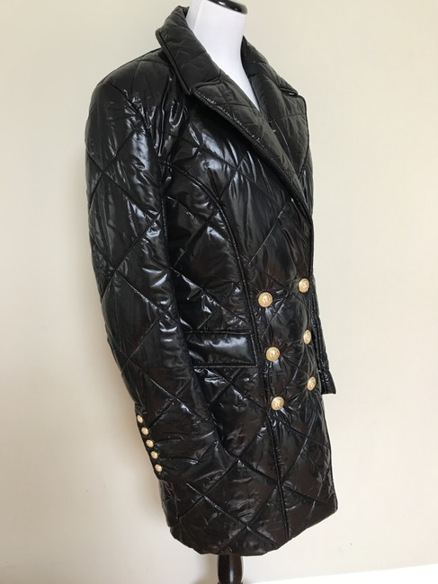 Balmain Nylon Quilted Double Breasted Pea Coat Image 4