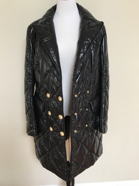 Balmain Nylon Quilted Double Breasted Pea Coat Image 5