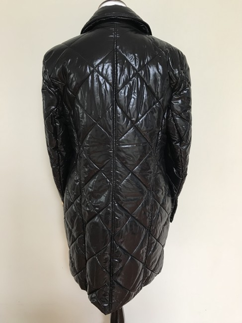 Balmain Nylon Quilted Double Breasted Pea Coat Image 7