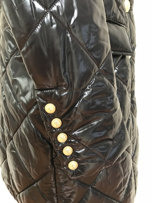 Balmain Nylon Quilted Double Breasted Pea Coat Image 8