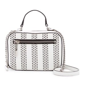 MILLY Perforrated Detachable Strap Zipper Closure Cross Body Bag