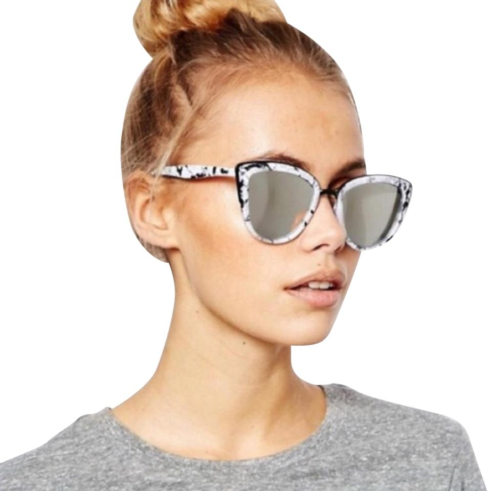 6aca8ebeb7e Quay Black Grey White Marble My Girl Sunglasses - Tradesy