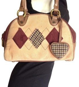 Juicy Couture Satchel in Brown, Burgundy, Beige