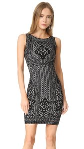 Hervé Leger Knit Black White Dress