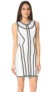 Hervé Leger Zigzag Black White Dress