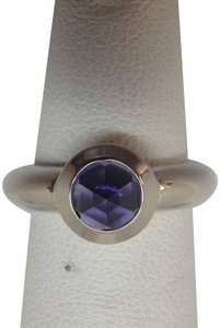 Tiffany & Co. France Bullet Shape Iolite 18k White Gold Solitaire Ring